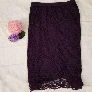Roz & Ali Stretchy Lace Pencil Skirt NWT!!